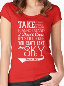 Firefly Theme song quote (white version) Women's Fitted Scoop T-Shirt