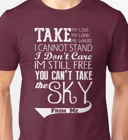 Firefly Theme song quote (white version) Unisex T-Shirt
