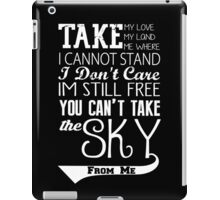 Firefly Theme song quote (white version) iPad Case/Skin