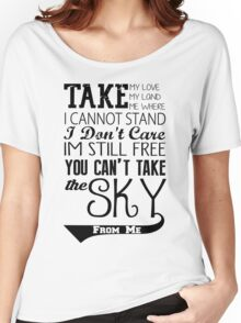 Firefly Theme song quote Women's Relaxed Fit T-Shirt