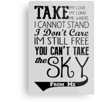 Firefly Theme song quote Metal Print
