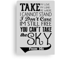 Firefly Theme song quote Canvas Print