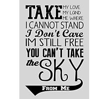 Firefly Theme song quote Photographic Print