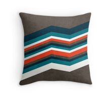 Diagonal Retro Stripes  Throw Pillow