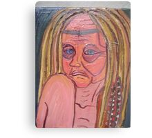 She's Always Struggled With Christianity Metal Print
