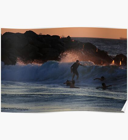 'One Last Wave for the Day' - Floreat Beach WA Poster