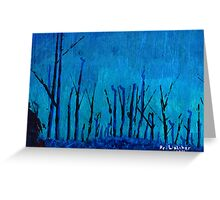 Blue Forest Greeting Card Greeting Card