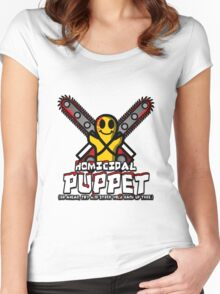 Homicidal Puppet Women's Fitted Scoop T-Shirt