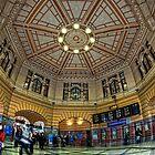 Flinders St Station • Melbourne • Australia by William Bullimore