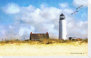St. George Island Lighthouse (art, poetry &amp; music) by Rhonda Strickland