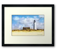 St. George Island Lighthouse (art, poetry & music) Framed Print