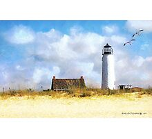 St. George Island Lighthouse (art, poetry & music) Photographic Print