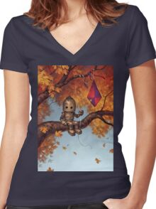 The Mystery of Flight Women's Fitted V-Neck T-Shirt