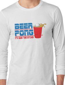Funny Shirt - Beer Pong  Long Sleeve T-Shirt