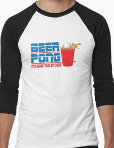 Funny Shirt - Beer Pong  Men's Baseball ¾ T-Shirt