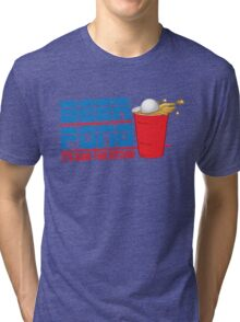 Funny Shirt - Beer Pong  Tri-blend T-Shirt