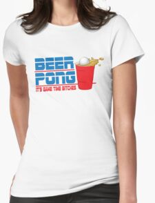Funny Shirt - Beer Pong  Womens Fitted T-Shirt