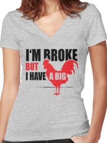 Funny Shirt - I'm Broke Women's Fitted V-Neck T-Shirt