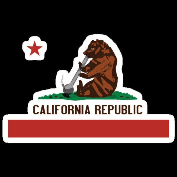 """Funny Shirt - California State Flag"" Stickers by ..."