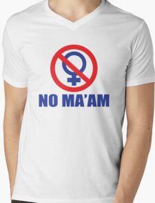 Funny Shirt - No Ma'am Mens V-Neck T-Shirt