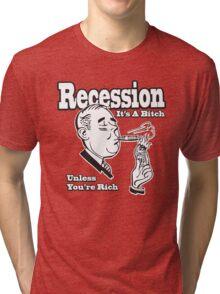 Funny Shirt - Recession  Tri-blend T-Shirt