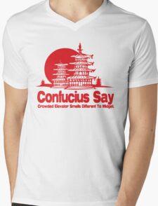 Funny Shirt - Confucius Say Mens V-Neck T-Shirt