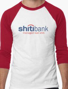 Funny Shirt - Shiti Bank Men's Baseball ¾ T-Shirt