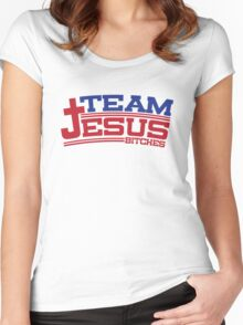 Funny Shirt - Team Jesus Women's Fitted Scoop T-Shirt