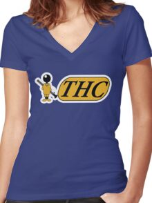 Funny Shirt - THC Women's Fitted V-Neck T-Shirt