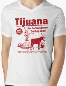 Funny Shirt - Tijuana Donkey Show Mens V-Neck T-Shirt