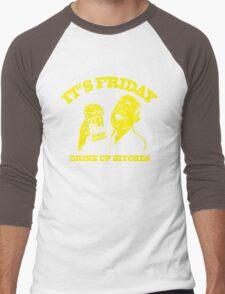 Funny Shirt - Drink Up Men's Baseball ¾ T-Shirt