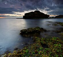Stormy Island Bay Sundown by Robert Mullner
