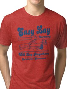 Funny Shirt - Easy Lay Tri-blend T-Shirt