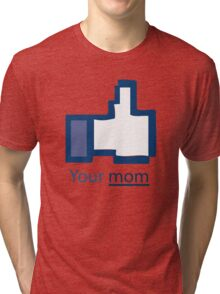Funny Shirt - Facebook Tri-blend T-Shirt