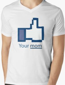 Funny Shirt - Facebook Mens V-Neck T-Shirt