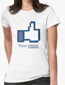 Funny Shirt - Facebook Womens Fitted T-Shirt