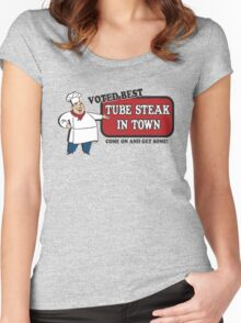 Funny Shirt - Tube Steak  Women's Fitted Scoop T-Shirt