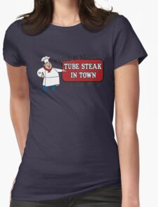 Funny Shirt - Tube Steak  Womens Fitted T-Shirt