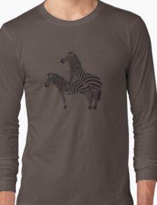 Funny Shirt - Two Headed Zebra Long Sleeve T-Shirt