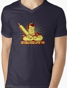 Funny Shirt - Fat Girls Mens V-Neck T-Shirt