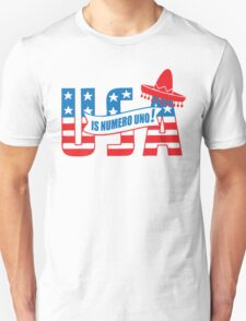 Funny Shirt - USA Is Numero Uno Funny T-Shirt