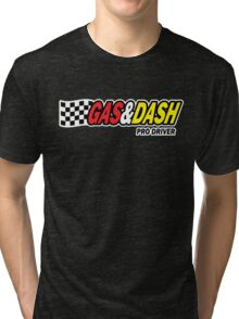 Funny Shirt - Gas and Dash Tri-blend T-Shirt