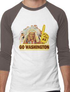 Funny Shirt - Go Washington Men's Baseball ¾ T-Shirt