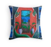 Door into Reality Throw Pillow