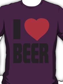 Funny Shirt - I Love Beer T-Shirt