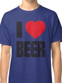 Funny Shirt - I Love Beer Classic T-Shirt