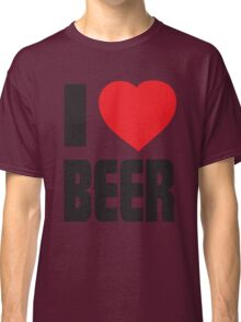 Funny Shirt - I Love Beer Classic T-Shirt