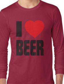 Funny Shirt - I Love Beer Long Sleeve T-Shirt