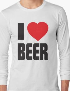 Funny Shirt - I Love Beer Long Sleeve T-Shirt