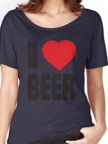 Funny Shirt - I Love Beer Women's Relaxed Fit T-Shirt
